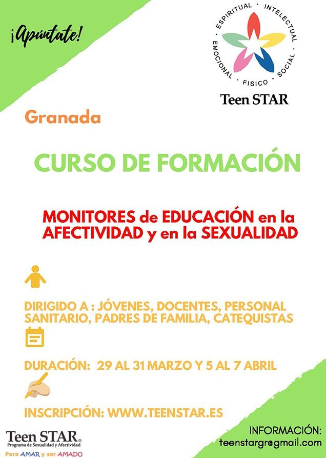 Cartel Curso Teen Star Granada 2019
